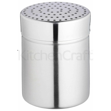 Kitchen Craft Stainless Steel Medium Hole Shaker and Lid