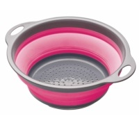 Colourworks Pink Collapsible Colander with Handles