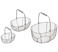 Kitchen Craft Wire Oval Storage Baskets