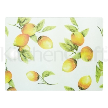 Kitchen Craft Toughened Glass Rectangular Worktop Protector - Lemon