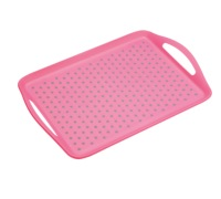 Colourworks Pink Anti-Slip Serving Tray