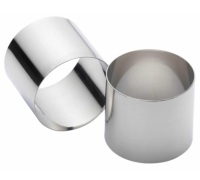 KitchenCraft Set of Two Stainless Steel Deep Cooking Rings