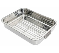Kitchen Craft Stainless Steel 38cm x 27.5cm Roasting Pan