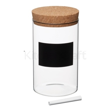 KitchenCraft Natural Elements Medium Glass Storage Canister