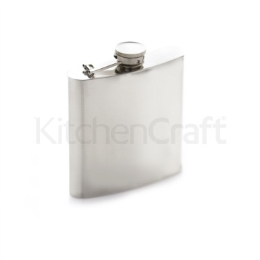Bar Craft Polished Stainless Steel Hip Flask