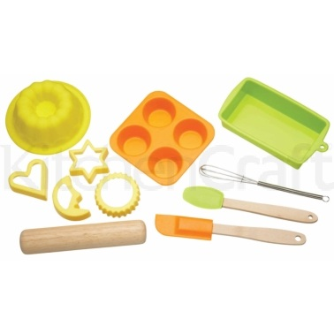 Let's Make Childrens 11 Piece Silicone Bakeware Set