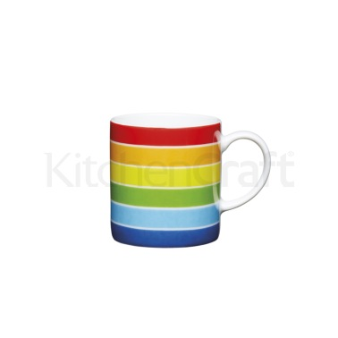 KitchenCraft 80ml Porcelain Rainbow Espresso Cup