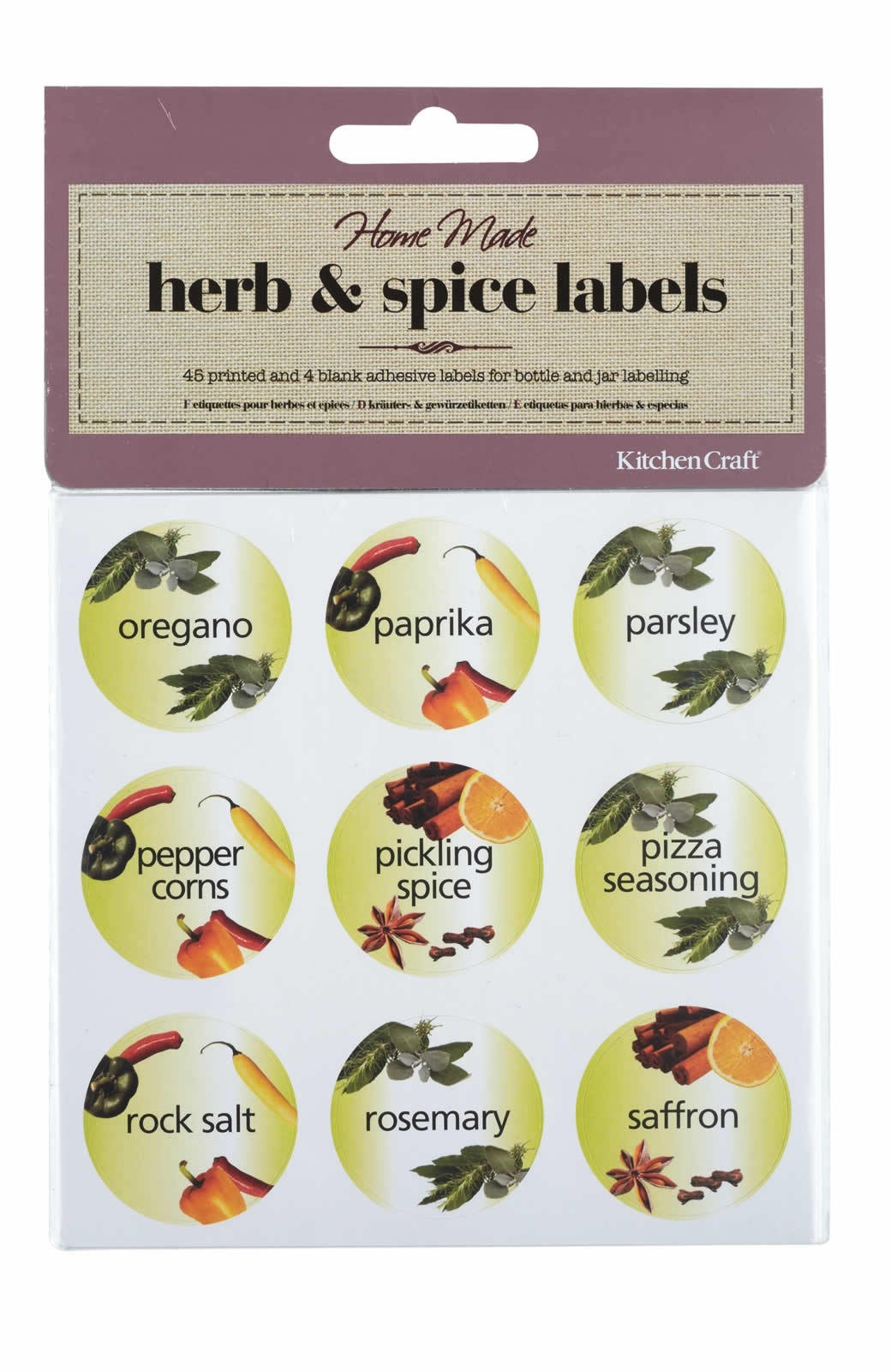 Home Made Pack of 45 Herb & e Bottle Labels | All Home made ...