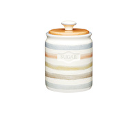 Classic Collection Striped Ceramic Sugar Container