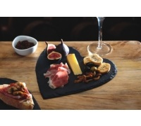Master Class Appetiser Slate Heart Shaped Serving Platter