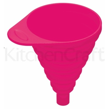 Colourworks Pink Collapsible Silicone Funnel