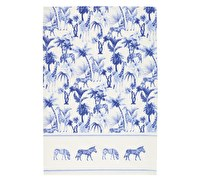 KitchenCraft Set of 2 Blue Safari Tea Towels