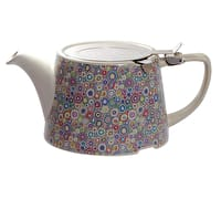 London Pottery Company Kaffe Fassett Oval-Filter Teapot with Infuser (Paperweight Purple)