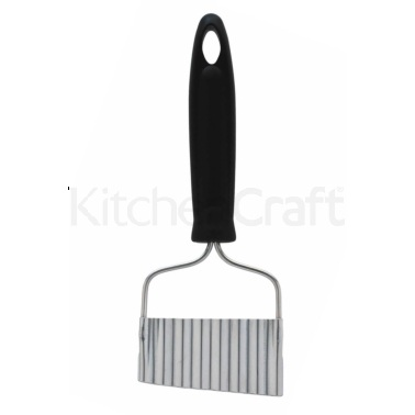 KitchenCraft Black Handled Stainless Steel Crinkle Chip Cutter