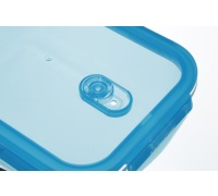 KitchenCraft Pure Seal Glass Rectangular 1 Litre Storage Container