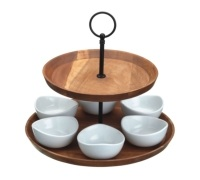 MasterClass Appetiser Two Tier Serving Set