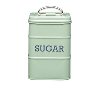 Living Nostalgia Metal Sugar Canister - English Sage Green