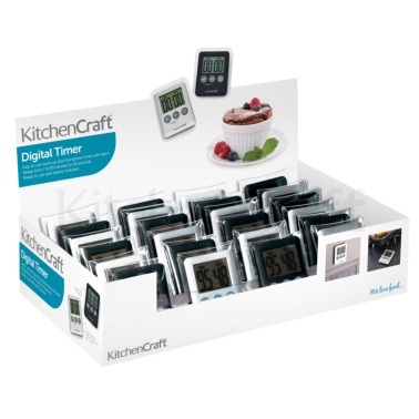 KitchenCraft Display of 24 Slimline Digital Timers