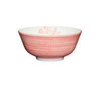KitchenCraft Terracotta Effect Orchid Print Ceramic Bowls