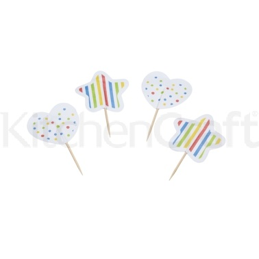 Sweetly Does It Pack of 180 Spot and Stripe Patterned Cupcake Case Kit