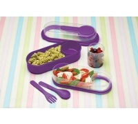 KitchenCraft Purple Lunch & Snack Box