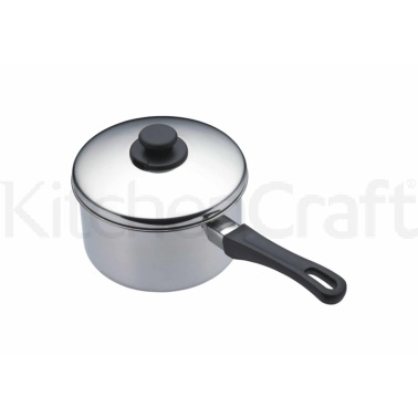 Kitchen Craft Stainless Steel 14cm Extra Deep Saucepan