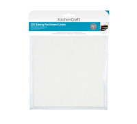 KitchenCraft Square 20cm Siliconised Baking Papers