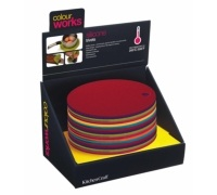 Colourworks Display of 16 Round Trivets