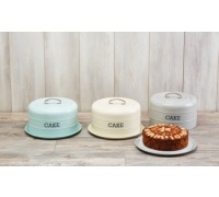 Living Nostalgia French Grey Domed Cake Tin