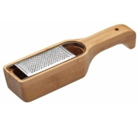 World of Flavours Italian Bamboo Grater with Holder
