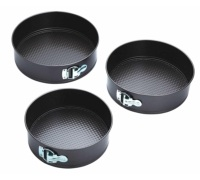 Kitchen Craft Three Piece Non-Stick Spring Form Cake Tin Set