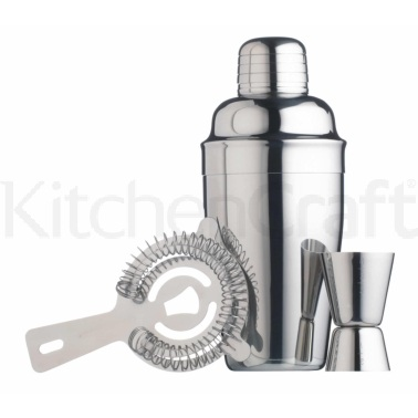 Bar Craft Stainless Steel 3 Piece Cocktail Set