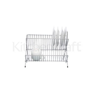 Kitchen Craft Chrome Plated Small Fold Away Dish Drainer