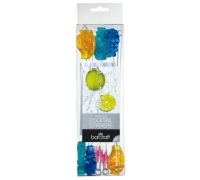 Bar Craft Pack of 8 Novelty Fruit Cocktail Stirrers
