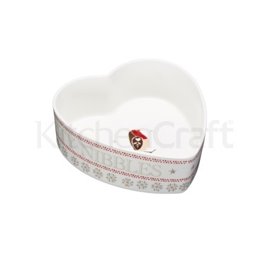Little Red Robin Heart Shaped Serving Dish