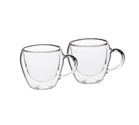 Le'Xpress Double Walled Glass Tea Cups