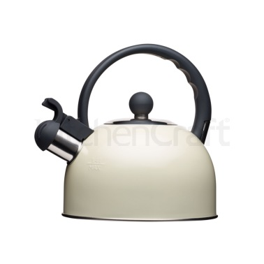 Living Nostalgia Antique Cream Traditional 1.4 Litre Whistling Kettle