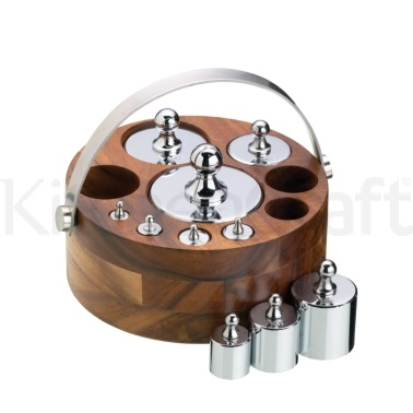 Natural Elements 10 Piece Metric Weight Set with Wood Stand