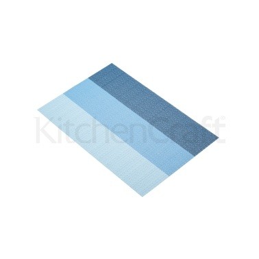 Kitchen Craft Woven Blue Stripes Placemat