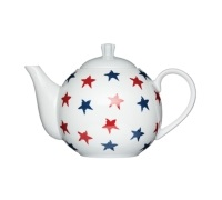 Kitchen Craft Fine Porcelain 4 Cup Stars Teapot