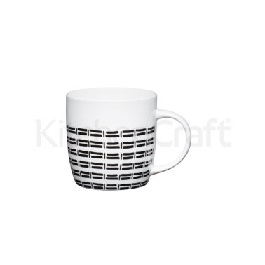 KitchenCraft Fine Bone China Tribal Barrel Mug