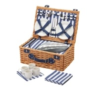 Coolmovers Sail Away Four Person Fitted Family Picnic Basket