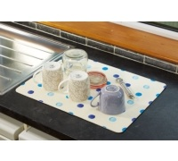 Kitchen Craft Non-Slip Blue Spot Drying Mat