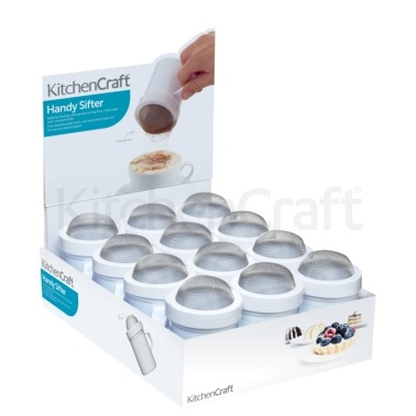 KitchenCraft Display of 12 Fine Mesh Shakers