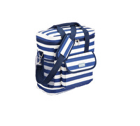 KitchenCraft Lulworth Nautical-Striped Medium Cool Bag