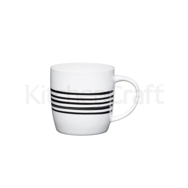 KitchenCraft Fine Bone China Tribal Stripe Barrel Mug