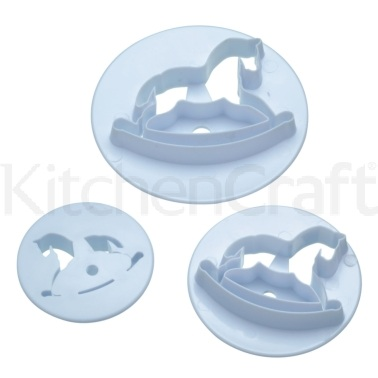 Sweetly Does It Set of 3 Rocking Horse Fondant Cutters