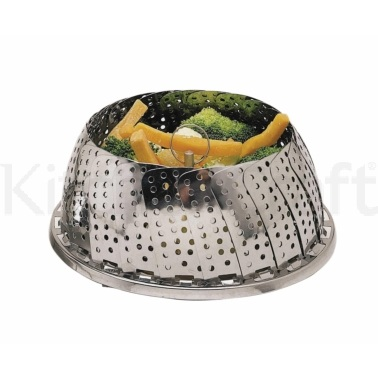 KitchenCraft Stainless Steel 28cm Collapsible Steaming Basket