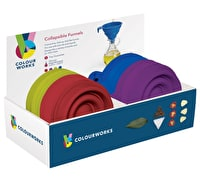 Colourworks Display of 24 Silicone Collapsible Funnels