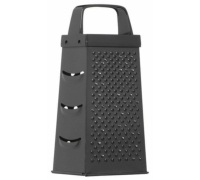 Kitchen Craft Black Non-Stick 17cm Four Sided Box Grater